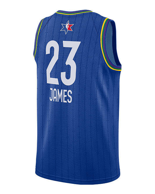 lebron james blue jersey