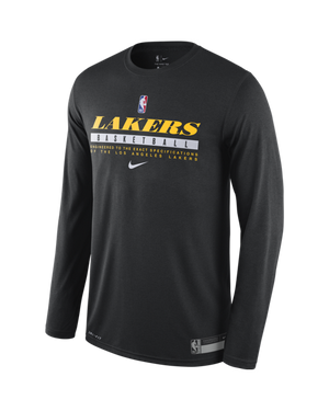 Los Angeles Lakers Long Sleeve Practice T-Shirt
