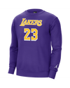 Los Angeles Lakers LeBron James Pullover Crew Fleece