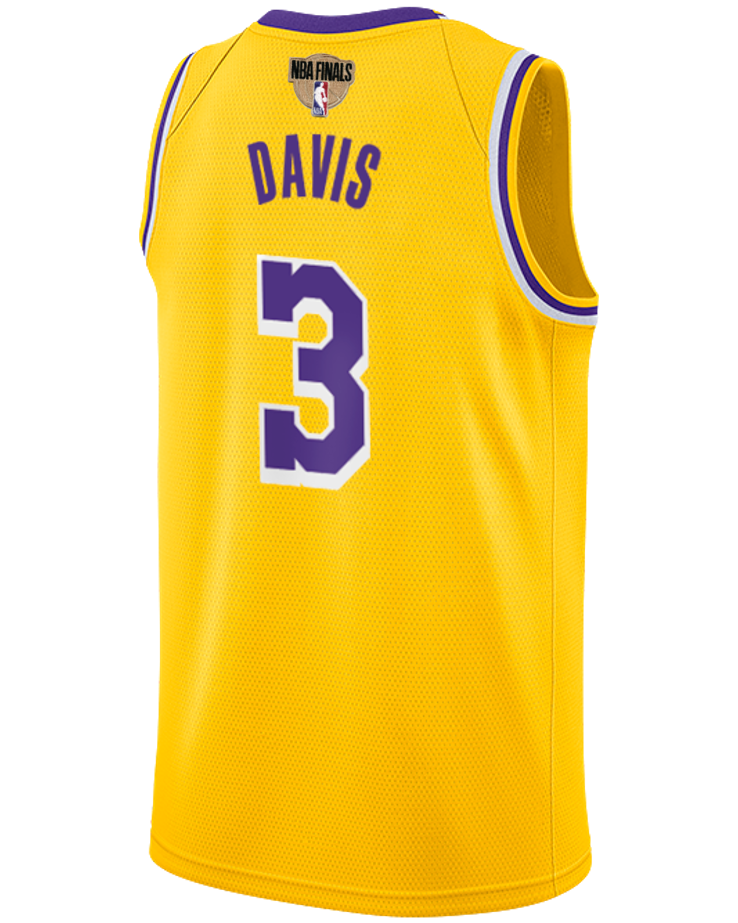 Los Angeles Lakers NBA Finals Patch Anthony Davis 2019-20 Icon Edition Swingman Jersey