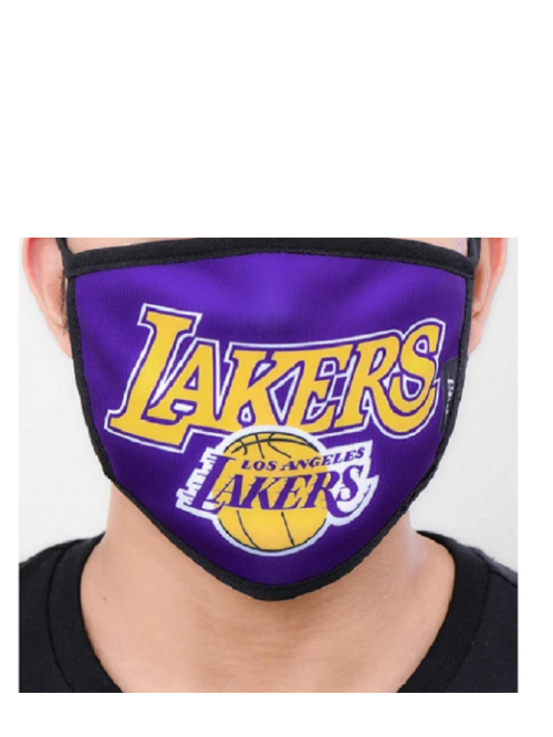 Los Angeles Lakers Team Name Logo Face Mask - 2 pack