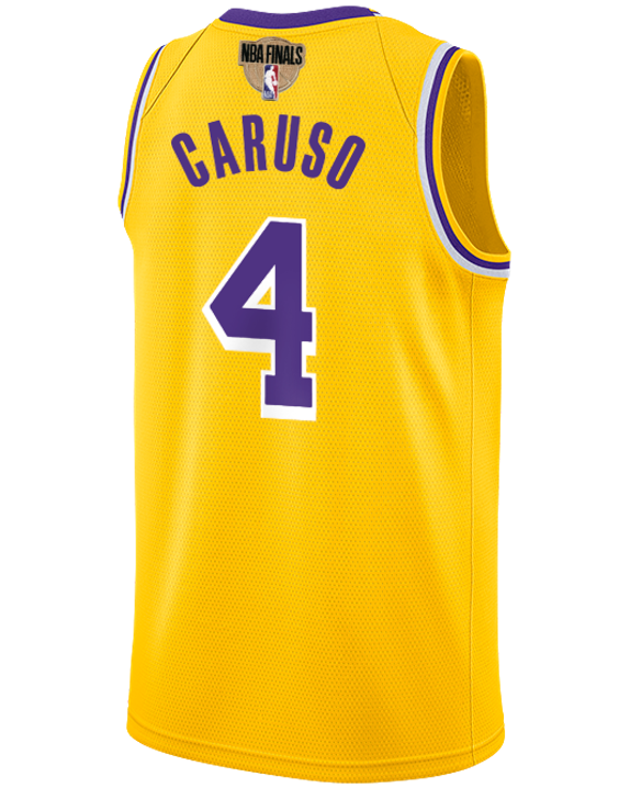 Los Angeles Lakers NBA Finals Patch Alex Caruso 2019-20 Icon Edition Swingman Jersey