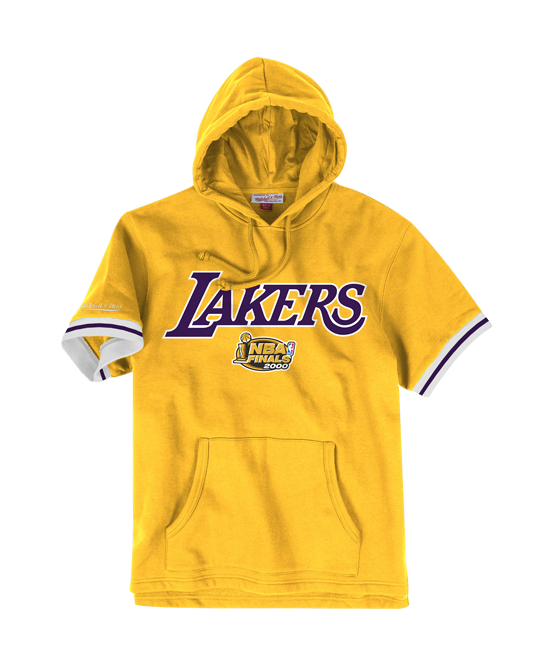 c9305277e2a31 Los Angeles Lakers French Terry Short Sleeve Hoodie - Gold