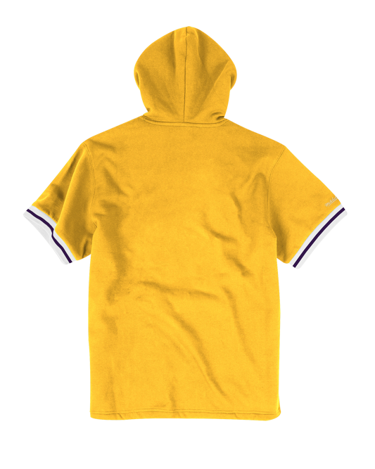 Los Angeles Lakers French Terry Short Sleeve Hoodie - Gold
