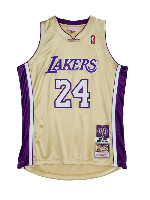 Los Angeles Lakers Kobe Bryant Hall of Fame 1996-97 #24 Authentic Jersey - Gold