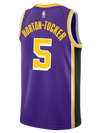 Los Angeles Lakers NBA Finals Patch LeBron James 2019-20 Association Edition Swingman Jersey