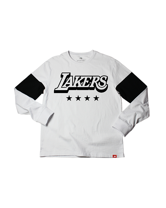 Los Angeles Lakers City Edition Men's Logo Thorpe Long Sleeve Tee