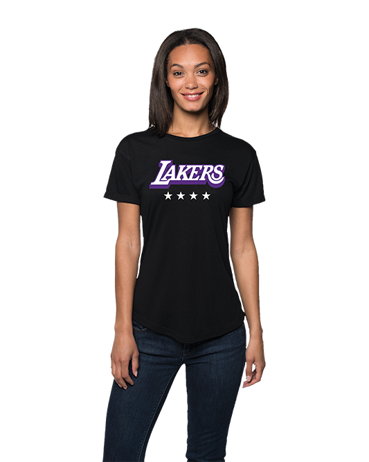 Los Angeles Lakers City Edition Women's Logo Phoebe Short Sleeve Tee