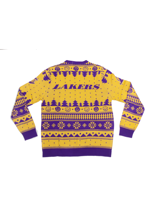 Los Angeles Lakers Ugly Knit Sweater - Gold