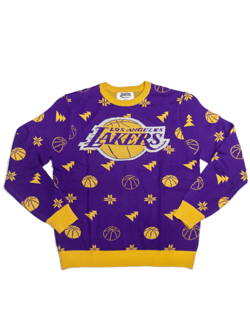 Los Angeles Lakers Ugly Knit Sweater - Purple – Lakers Store 44b878ec9