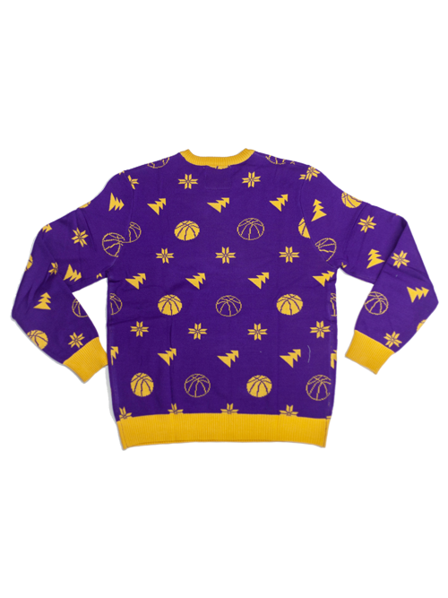 e918d5ac063 Los Angeles Lakers Ugly Knit Sweater - Purple