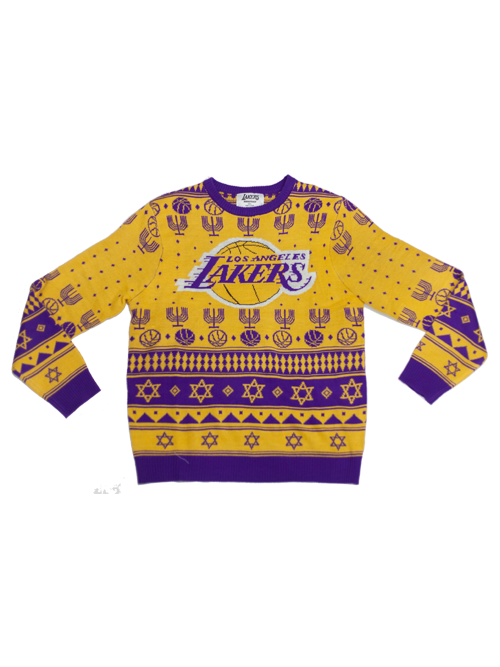 Los Angeles Lakers Hanukkah Ugly Knit Sweater