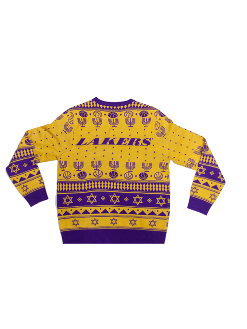 981478ec345 Los Angeles Lakers Hanukkah Ugly Knit Sweater