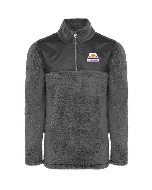 Los Angeles Lakers Tour Sherpa Quarter Zip Sweater