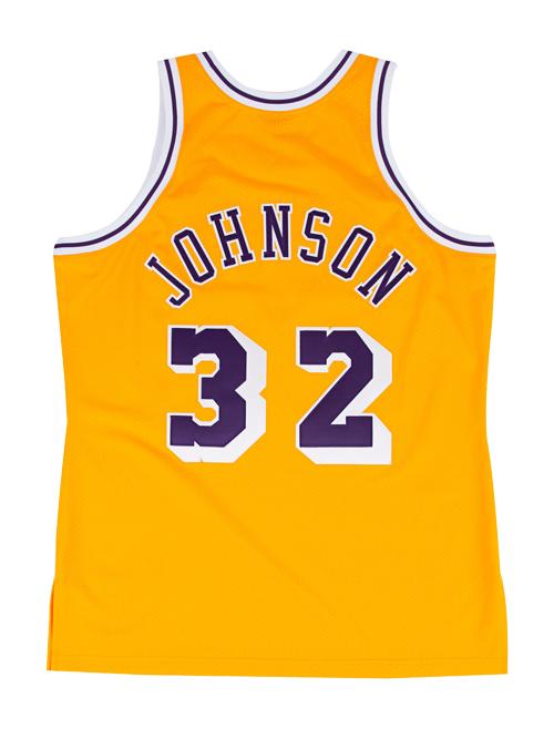 Los Angeles Lakers Authentic Hardwood Classic Johnson Home Jersey