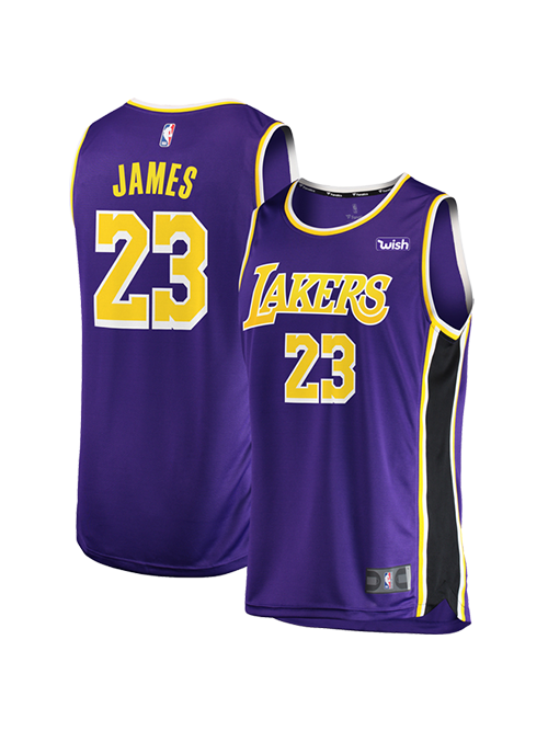 san francisco 59488 ea340 Los Angeles Lakers Youth LeBron James Replica Jersey - Purple