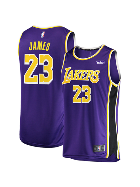 san francisco 1e62a ebab2 Los Angeles Lakers Youth LeBron James Replica Jersey - Purple