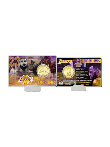 Los Angeles Lakers LeBron James Coin Card