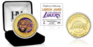 Los Angeles Lakers LeBron James Bronze Mint Coin