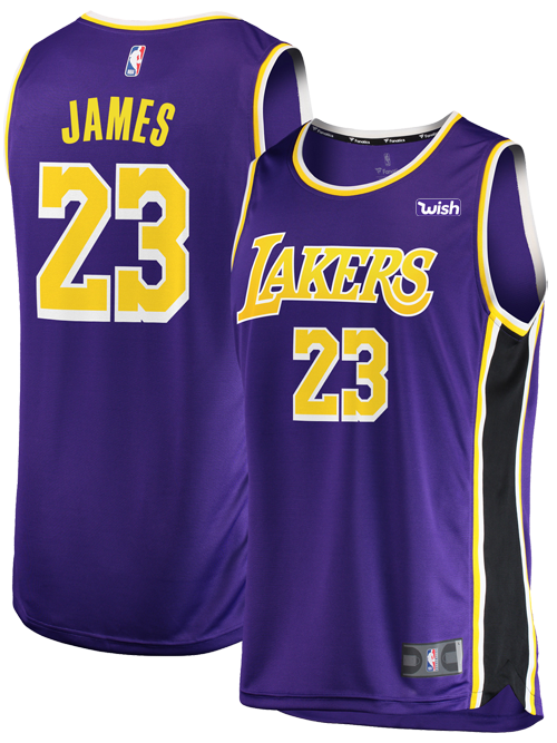 new concept 25954 911bf Los Angeles Lakers LeBron James Replica Jersey - Purple ...