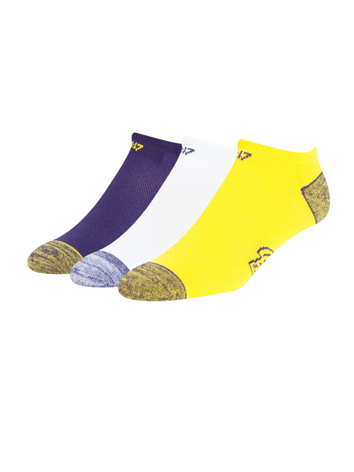 Los Angeles Lakers Blade No Show Socks - 3 pack