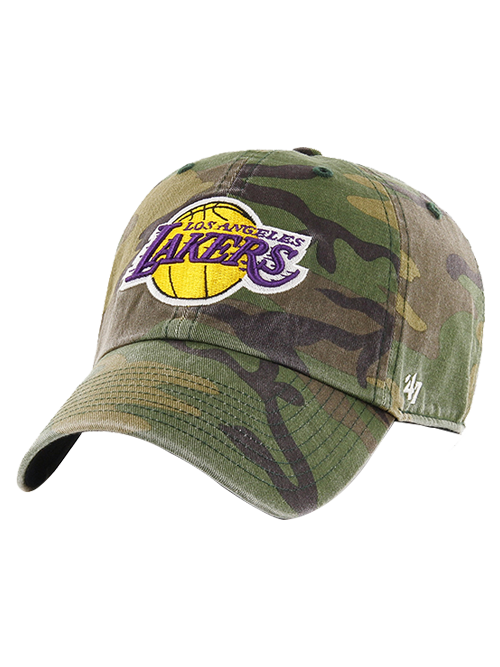 Los Angeles Lakers Camo Clean Up Adjustable Cap