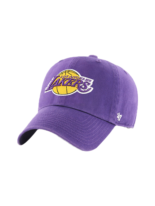Los Angeles Lakers Primary Clean Up Adjustable Cap - Purple