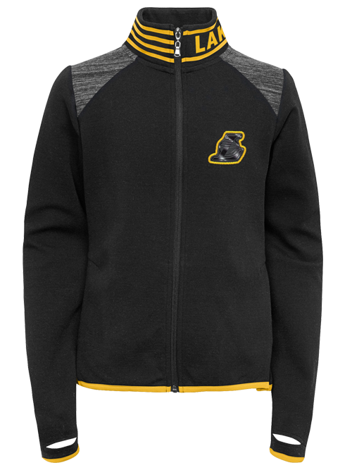 Los Angeles Lakers Girls Aviator Tonal Logo Full Zip Jacket