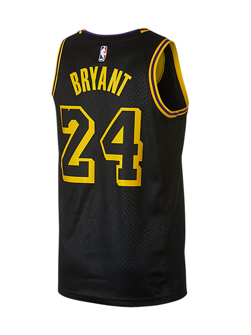 13a851e8c755 ... Los Angeles Lakers Kobe Bryant  24 City Edition Swingman Jersey