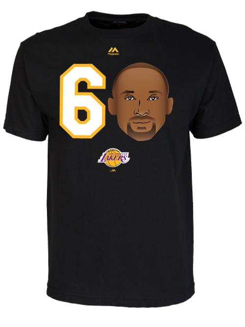 Los Angeles Lakers Kobe Bryant 60 Emoji T-Shirt