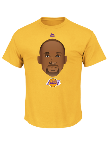 Los Angeles Lakers Kobe Bryant Emoji Short Sleeve T-Shirt