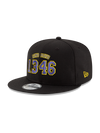 Kobe Bryant 9FIFTY 2 Scoring Title Black Snapback Cap