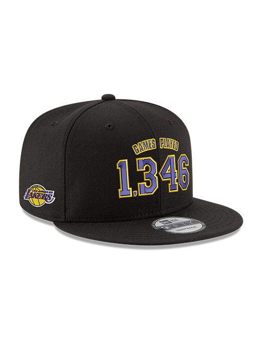 Kobe Bryant 9FIFTY 1346 Games Black Snapback Cap