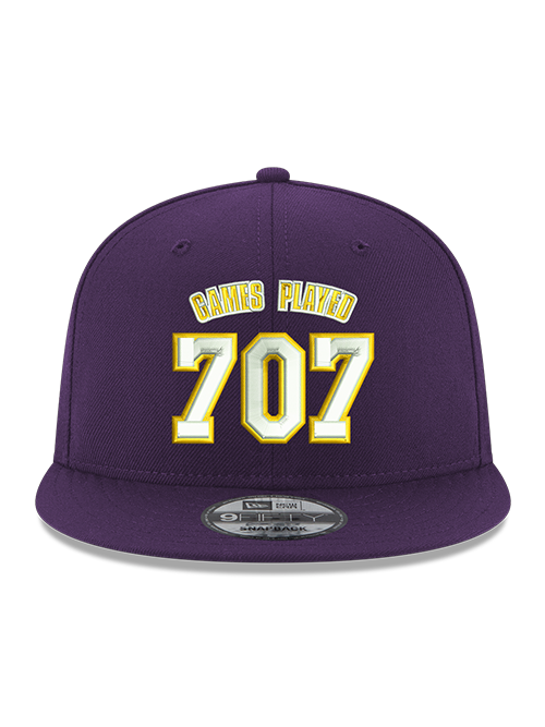 Kobe Bryant 9FIFTY 707 Games Purple Snapback Cap