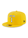 Los Angeles Lakers Checkered Logo Snapback Cap - Purple/Black