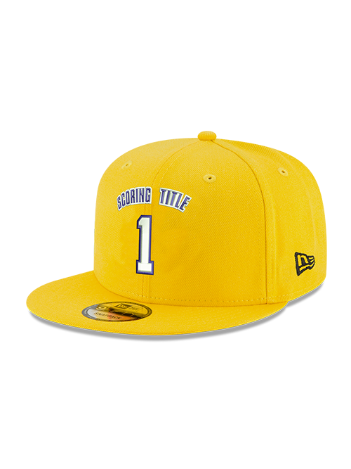 Kobe Bryant 9FIFTY 1 Scoring Title Gold Snapback Cap