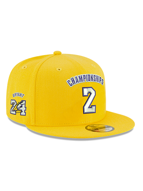 low priced 7e8be 30a50 Kobe Bryant 9FIFTY 2 Championships Gold Snapback Cap