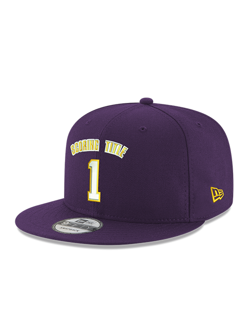 Kobe Bryant 9FIFTY 1 Scoring Title Purple Snapback Cap