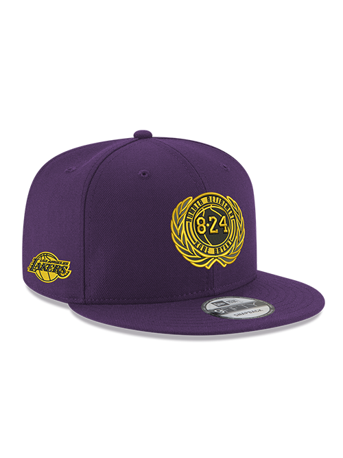 Kobe Bryant 9FIFTY Purple Retirement Patch Snapback Cap