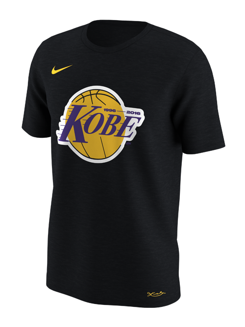 Kobe Bryant Lakers Name Logo T-Shirt