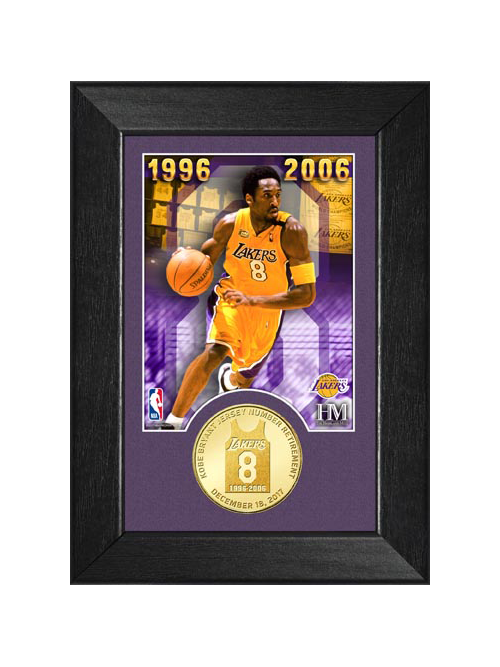 Kobe Bryant Jersey Number 8 Retirement Coin Frame