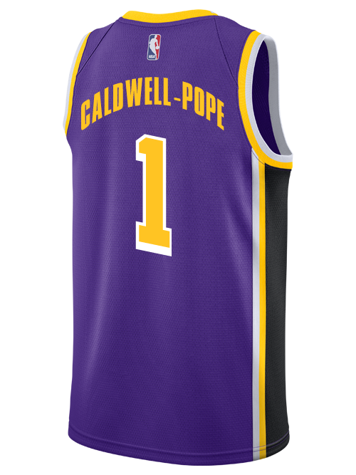 a900cdff6ed1 Los Angeles Lakers Kentavious Caldwell-Pope 2018-19 Statement Edition Swingman  Jersey