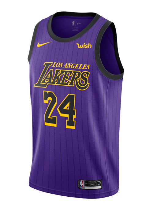 Los Angeles Lakers City Edition Kobe Bryant #24 Swingman Jersey