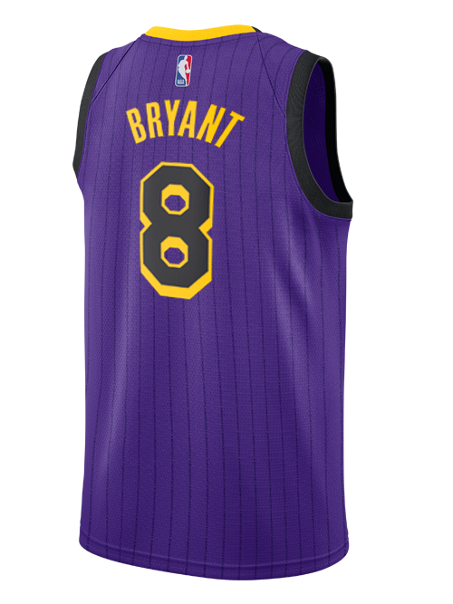 Los Angeles Lakers City Edition Kobe Bryant #8 Swingman Jersey