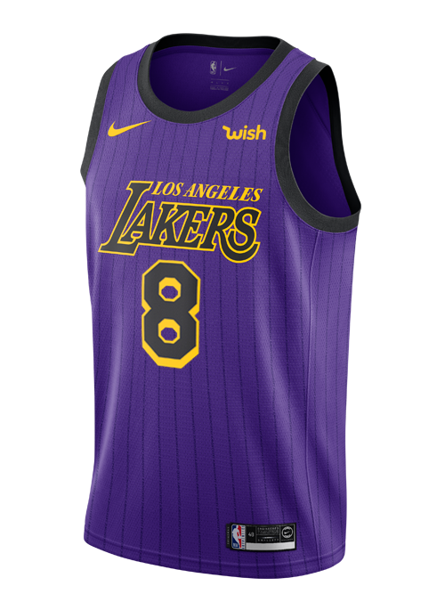 25b0163e311 ... usa los angeles lakers city edition kobe bryant 8 swingman jersey f68ac  5a4d6