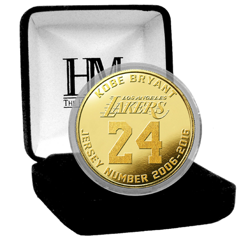 Los Angeles Lakers Limited Edition Kobe Bryant Final Season Commemorative Flashed Gold Coin