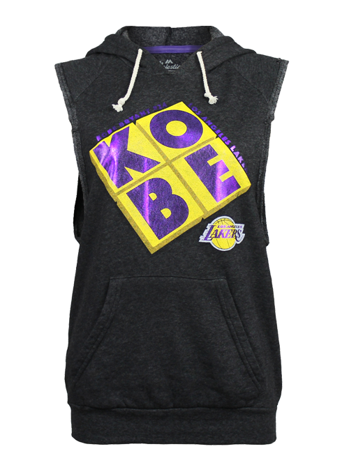 Los Angeles Lakers Kobe Bryant Women's Block Foil Sleeveless Hood