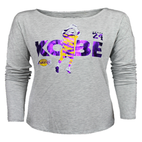 Los Angeles Lakers Kobe Bryant Women's Jumper Foil T-Shirt