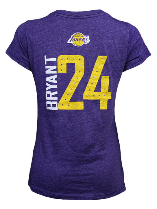 Los Angeles Lakers Kobe Bryant Women s Primary Logo Player T-Shirt ... 74d862b3f751