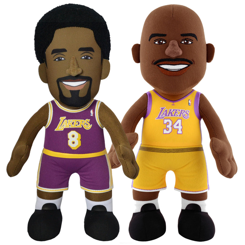 "Los Angeles Lakers Bundle: Shaquille O'Neal and Kobe Bryant 10"" Plush Figures"